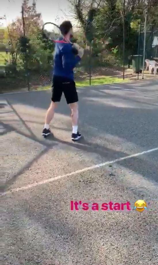 Murray torna ad allenarsi