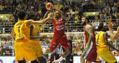 Basket, Torino-Milano 97-100: continua la marcia dell'Olimpia in testa alla classifica