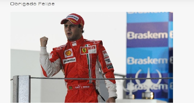 """F1, anche la Ferrari saluta Massa: """"Obrigado Felipe"""""""