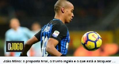 Calciomercato Inter: terminate le visite mediche per Joao Mario al West Ham