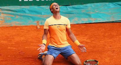 """Tennis: Nadal è di nuovo il """"principe"""" di Montecarlo"""