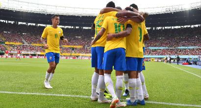 Tre gol del Brasile all'Austria, altra perla di Neymar