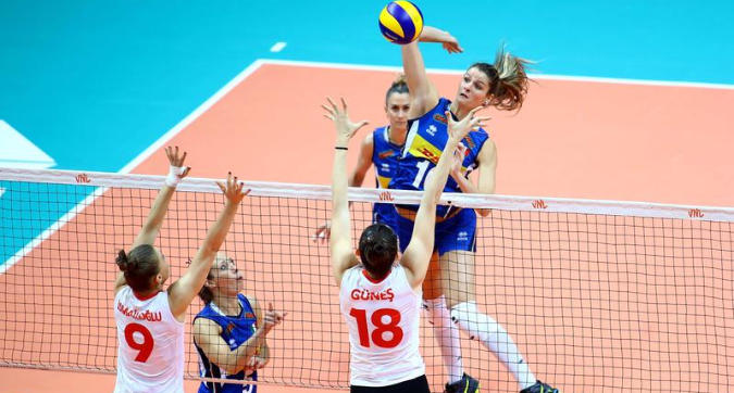 Volley, Nations League donne: Italia-Turchia 3-2, primo posto ancora possibile
