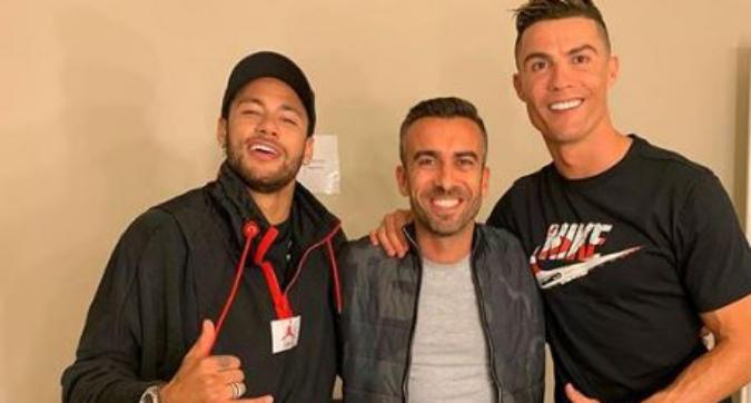 Neymar a Torino per girare uno spot con Cristiano Ronaldo