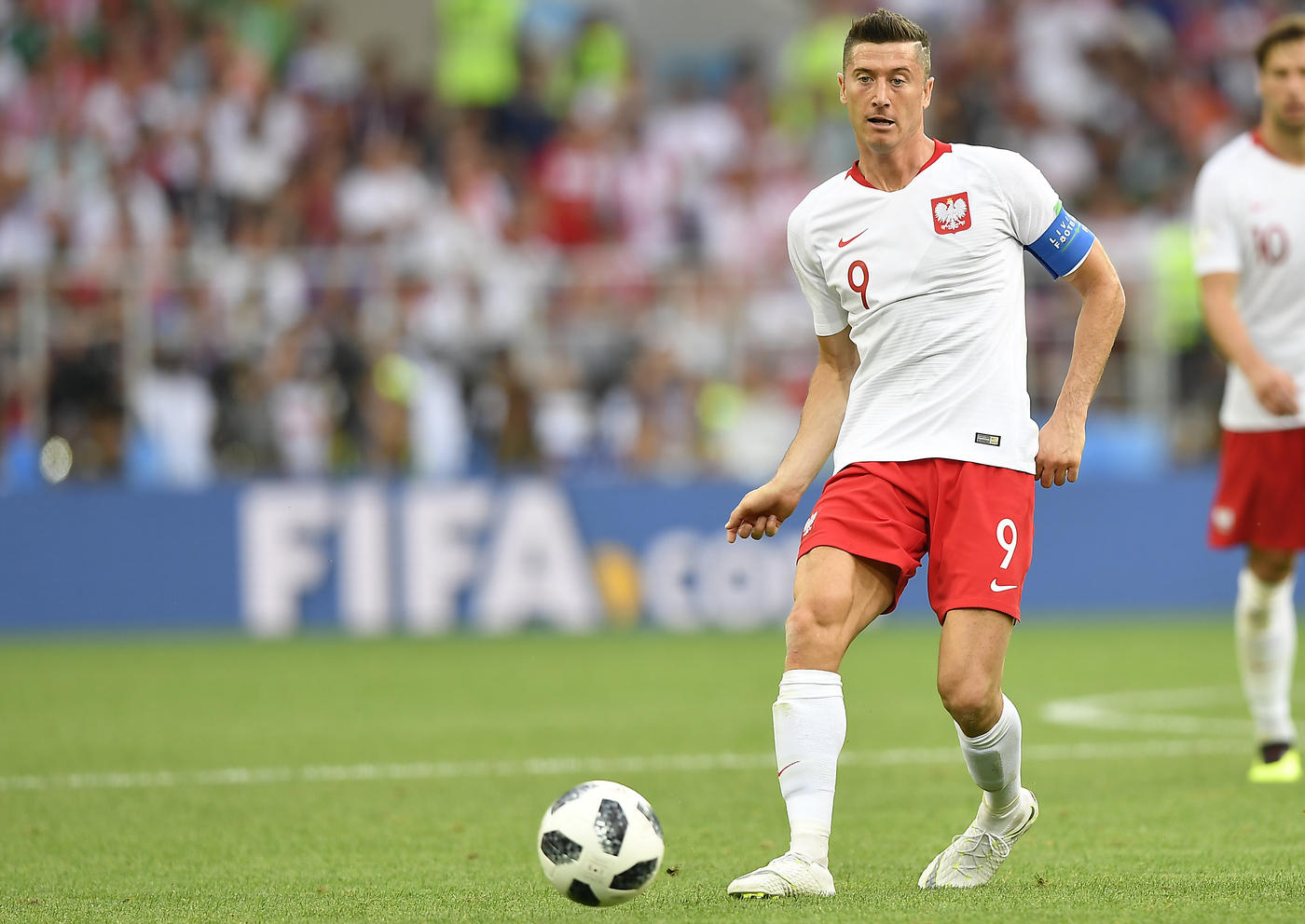Lewandowski (Polonia) è il calciatore al via che ha segnato più gol (58).