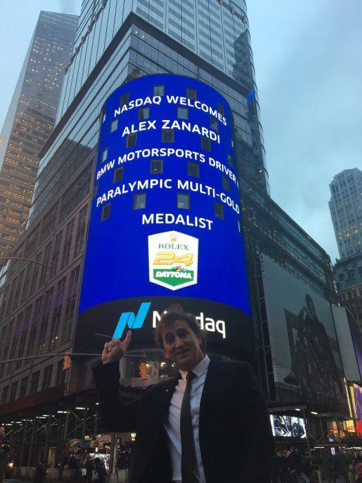 Zanardi ospite della Borsa di New York
