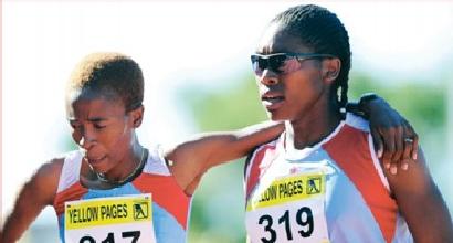 Caster Semenya e Violet Raseboya, Foto dal Web