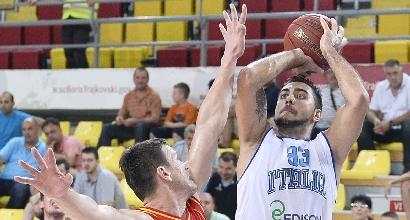 Basket, Torneo di Skopje: Italia di ferro, Montenegro ko