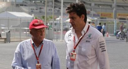 Mercedes: Wolff-Lauda fino al 2020