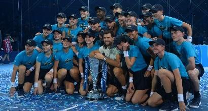 Tennis: Dimitrov trionfa all'Atp Finals, battuto Goffin