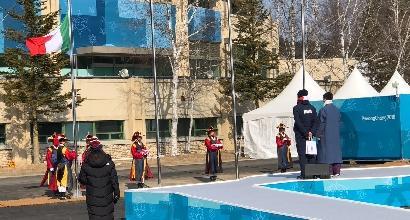 Italia, il tricolore è stato issato a PyeongChang