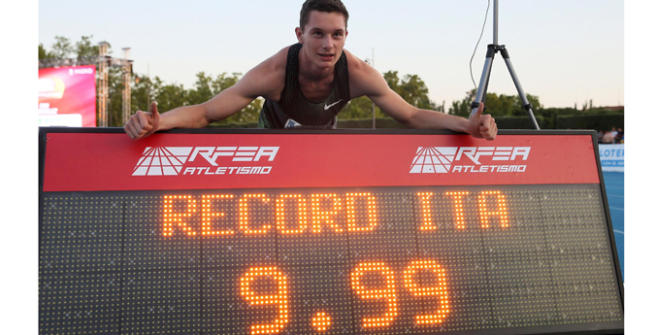 """Atletica, Tortu nella storia: 9""""99 nei 100m. È record italiano"""