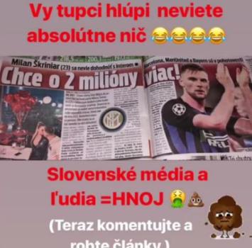 """Addio all'Inter? Skriniar attacca la stampa slovacca: """"M..."""""""