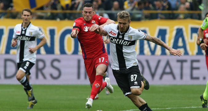 Serie A: il Parma vince 1-0 e si salva, la Fiorentina ora trema