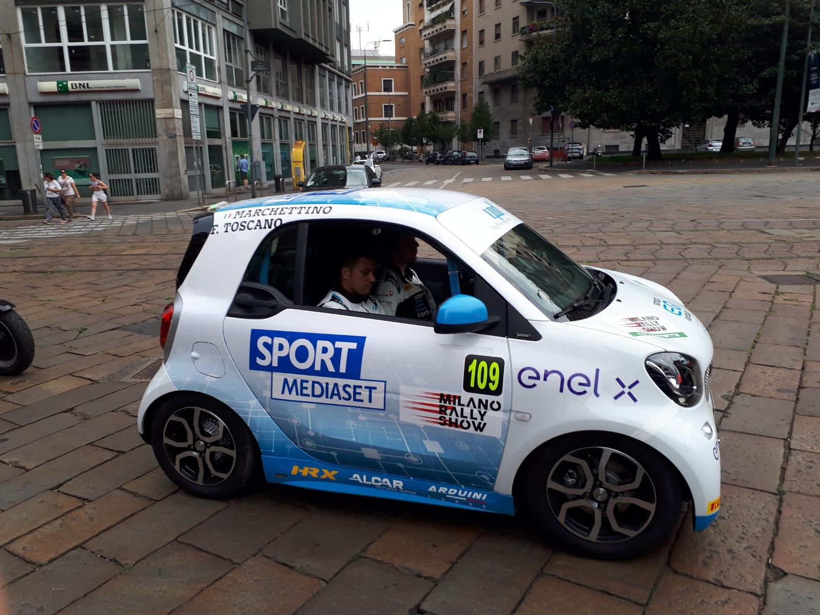 Smart EQ fortwo e-cup al Milano Rally Show