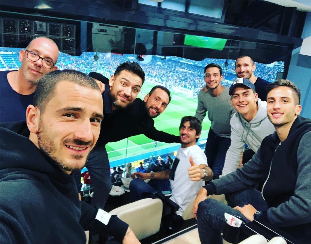 Bonucci, Chiellini, Perin, De Sciglio, Bentancur, Dybala (Juventus)