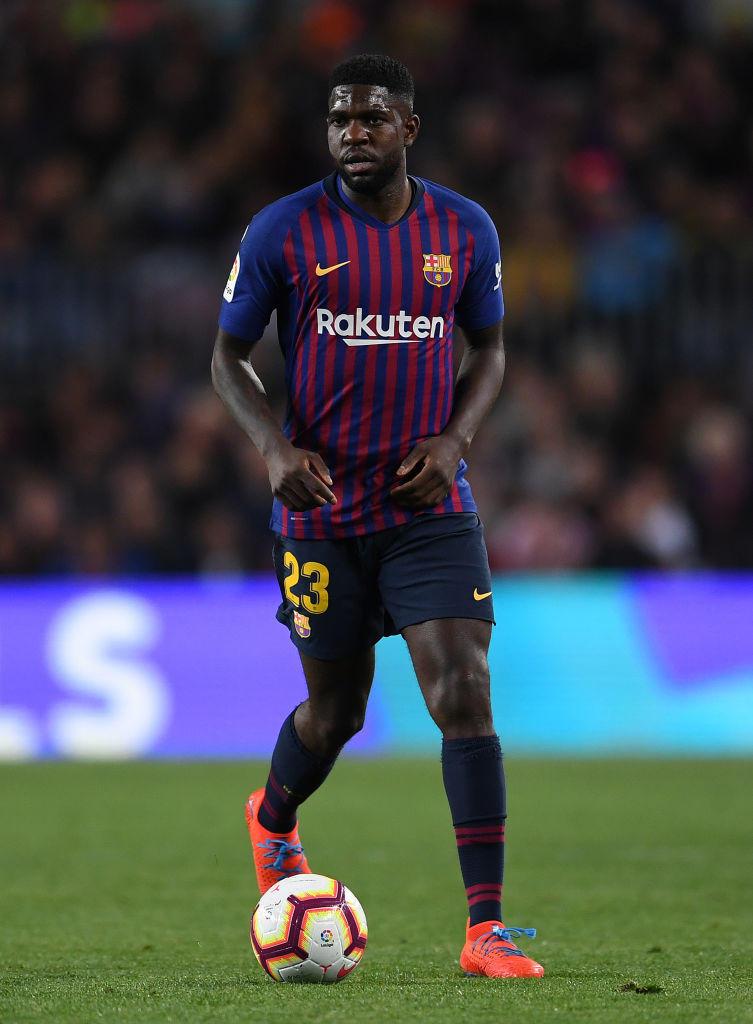 Samuel Umtiti, difensore del Barcellona: potrebbe chiedere la cessione se arrivasse De Ligt in blaugrana