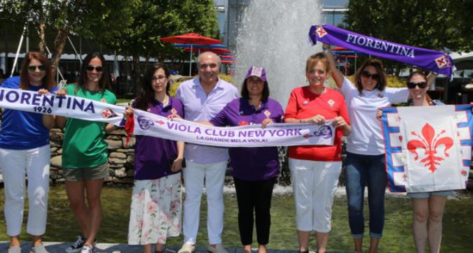 Fiorentina, picnic viola per Commisso negli Stati Uniti: le foto