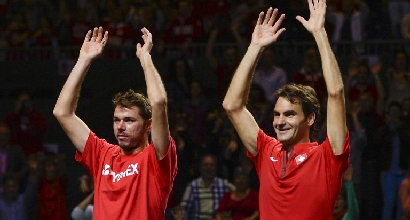 Wawrinka e Federer (Afp)