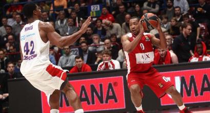 Basket, Eurolega: Milano travolta dal Cska Mosca