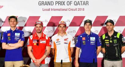 MotoGP, Qatar: Dovizioso e Rossi davanti a tutti in FP1