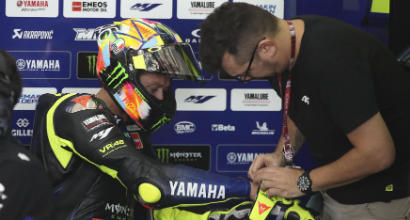 """MotoGP, la gomma tradisce Rossi: """"Non ho fatto il tempo... era del '96"""""""