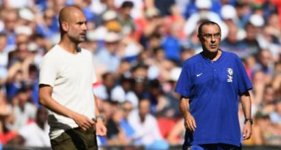 """Cori razzisti, Guardiola e Sarri uniti: """"Dobbiamo fermare le partite"""""""