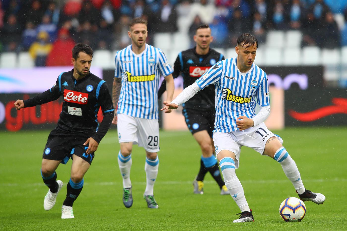 Serie A: il Napoli espugna il Mazza con Mario Rui