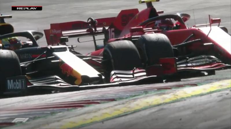 Polemiche in Austria per il sorpasso nel finale tra Max Verstappen e Charles Leclerc.