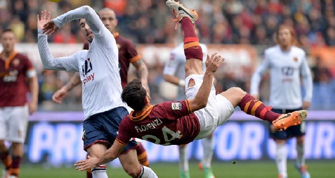Il gol in rovesciata di Florenzi, Ansa
