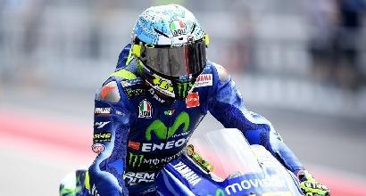 """Yamaha, Rossi: """"Avevo il mal di testa, ma la moto va bene"""""""