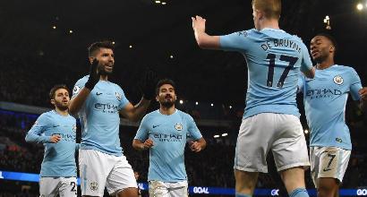Premier League: Aguero annienta il Leicester, pokerissimo City. Vince il Tottenham