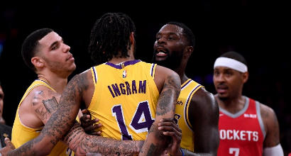 Nba, rissa Lakers-Rockets: 4 giornate a Ingram