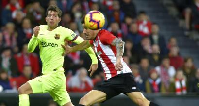 Liga: Barcellona fermato sullo 0-0 a Bilbao, il Siviglia pareggia in 10 uomini