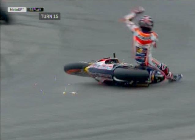 MotoGP, tutti giù per terra