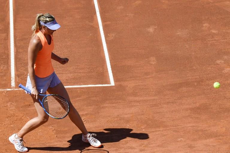 Internazionali d'Italia: Sharapova ok all'esordio, le foto del match