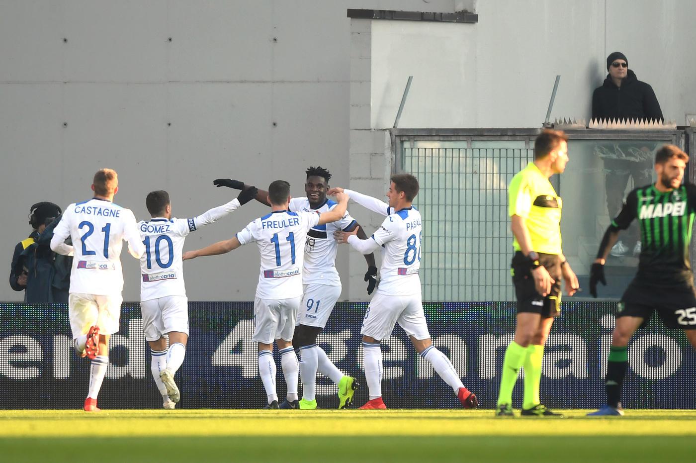 La squadra di Gasperini batte 6-2 il Sassuolo