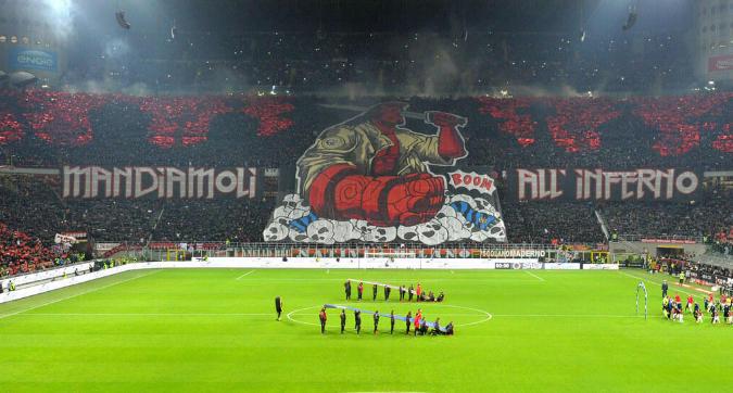 Milan-Inter, le coreografie di San Siro