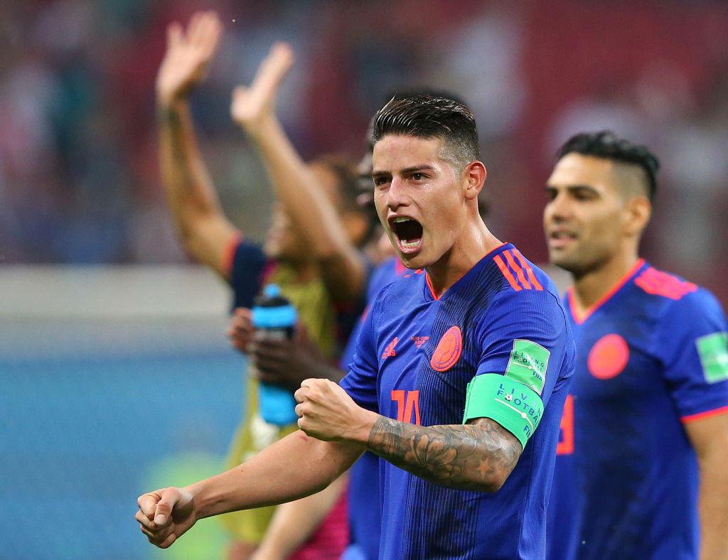 James Rodriguez con la maglia della Colombia