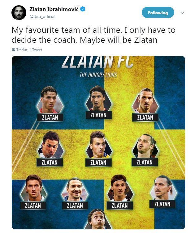 Il solito umile e modesto (ma anche molto ironico) Zlatan Ibrahimovic. L'attaccante svedese ha pubblicato su tutti i suoi profili social quella che pe...
