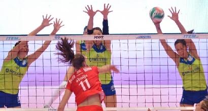 Volley, A1 femminile: Forlì, primo urrà con Frosinone