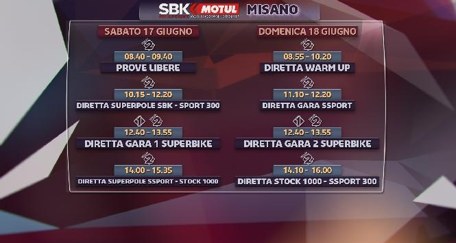La Superbike a Misano: gli orari tv e streaming