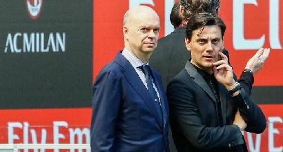 """Milan, Montella: """"Amareggiato dal risultato, non dalla prova dei miei giocatori"""""""