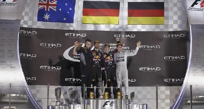 Il podio di Abu Dhabi (Reuters)
