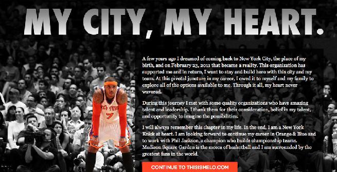 Nba, Carmelo Anthony ha scelto di rimanere a New York