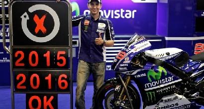 Jorge Lorenzo rinnova con la Yamaha fino al 2016