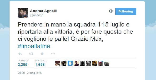 """Agnelli: """"Allegri ha avuto le palle"""""""