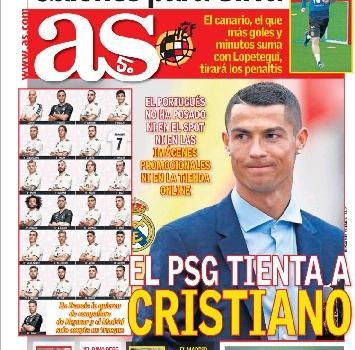 Cristiano Ronaldo, tentazione Psg: sul piatto 45 milioni a stagione