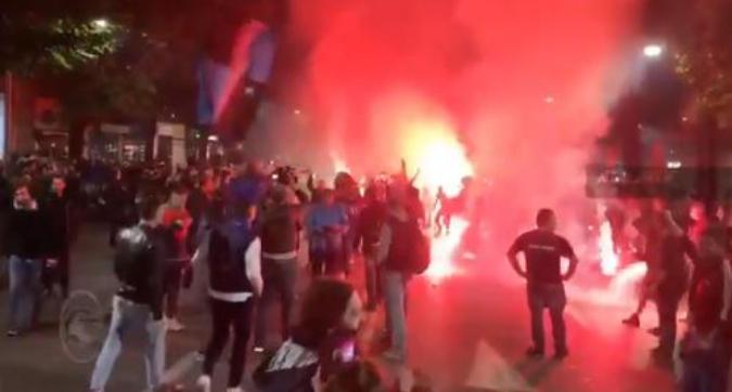Atalanta, festa a Bergamo per la Champions League