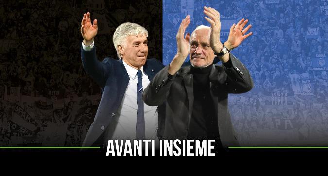 """L'Atalanta blinda Gasperini: """"Avanti insieme"""""""